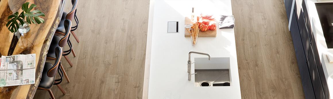 Wählen Sie den perfekten Küchenboden | Laminat-, Holz- und Vinylböden